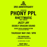 NOTHIN'SPECIAL 3RD ANNIVERSARY