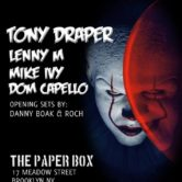 TONY DRAPER & FRIENDS HALLOWEEN BASH